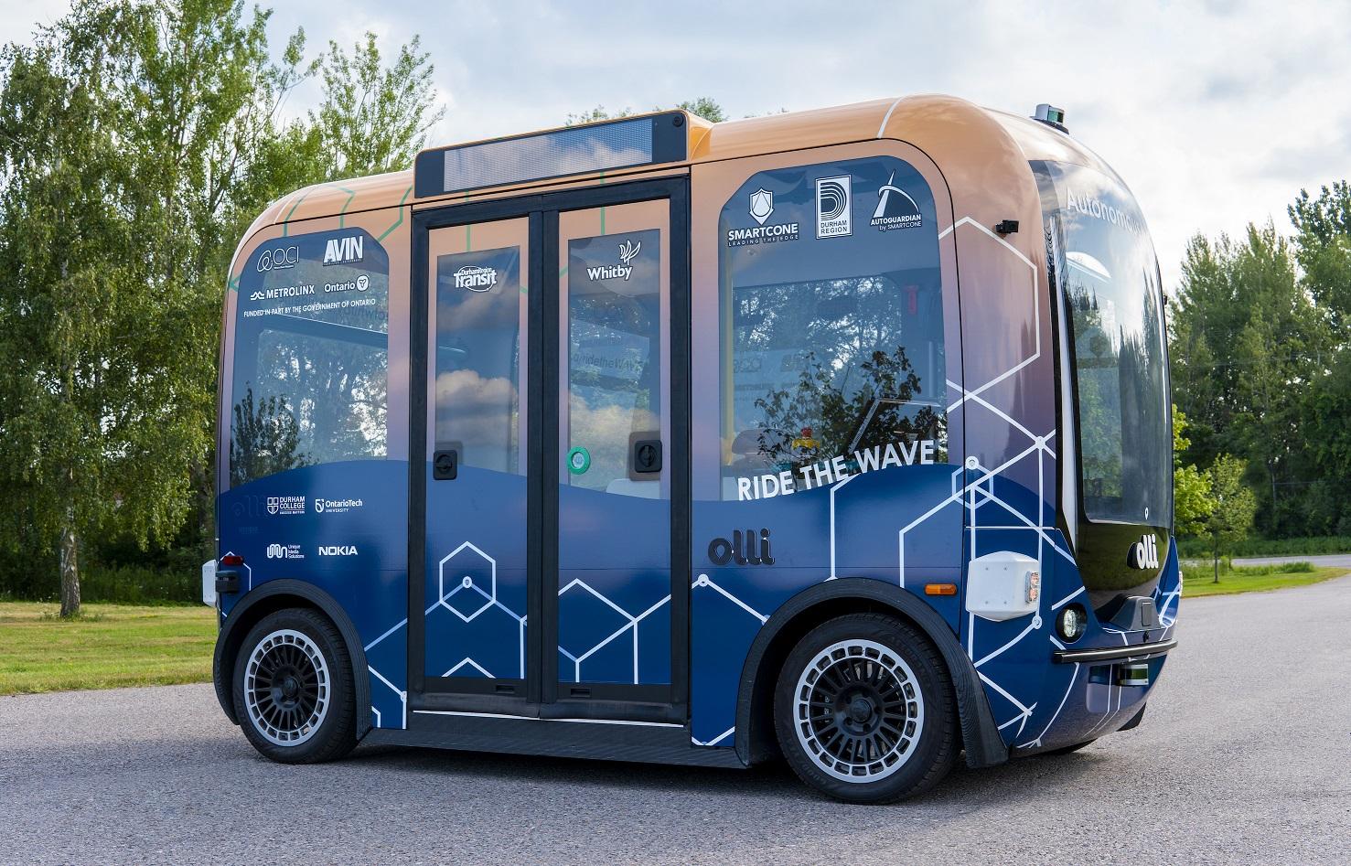Whitby Autonomous Vehicle Electric Shuttle - Local Motors Olli 1.0