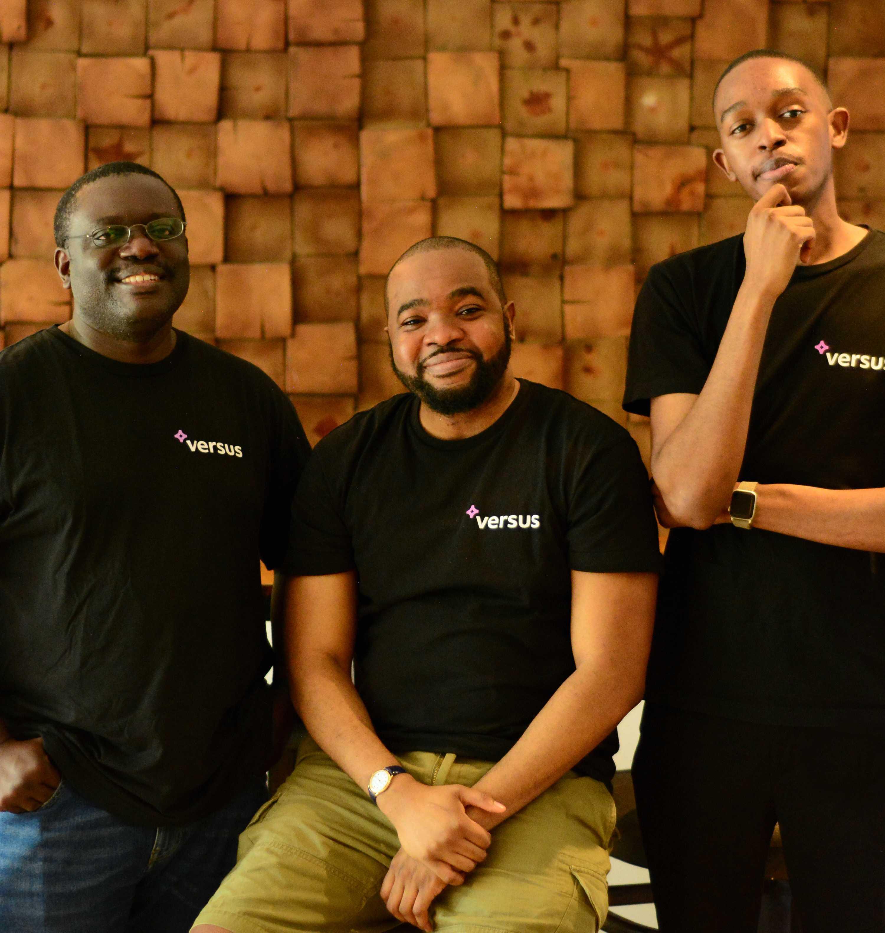 Versus Africa leadership: (L to R) Robert John, Kemdi Ebi and Joshua Tabansi