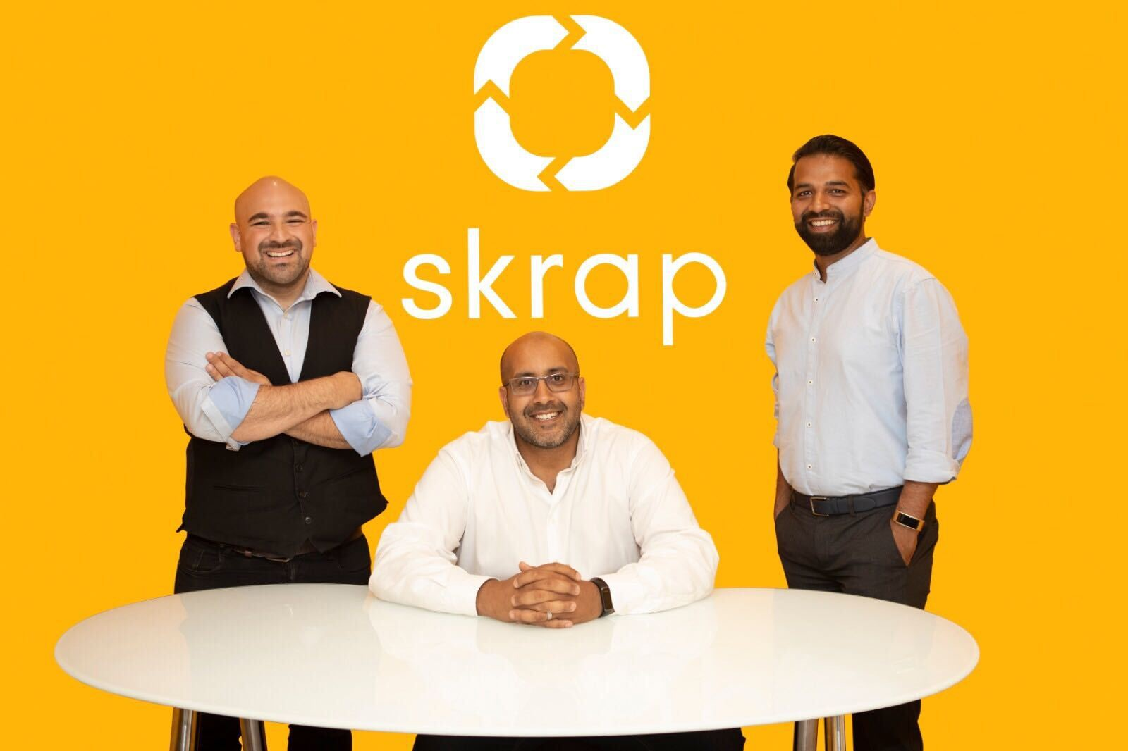 Industry skippers. Skrap co-founders Hussain Hilli, Marwan Field and Ahmed Rao (L to R)