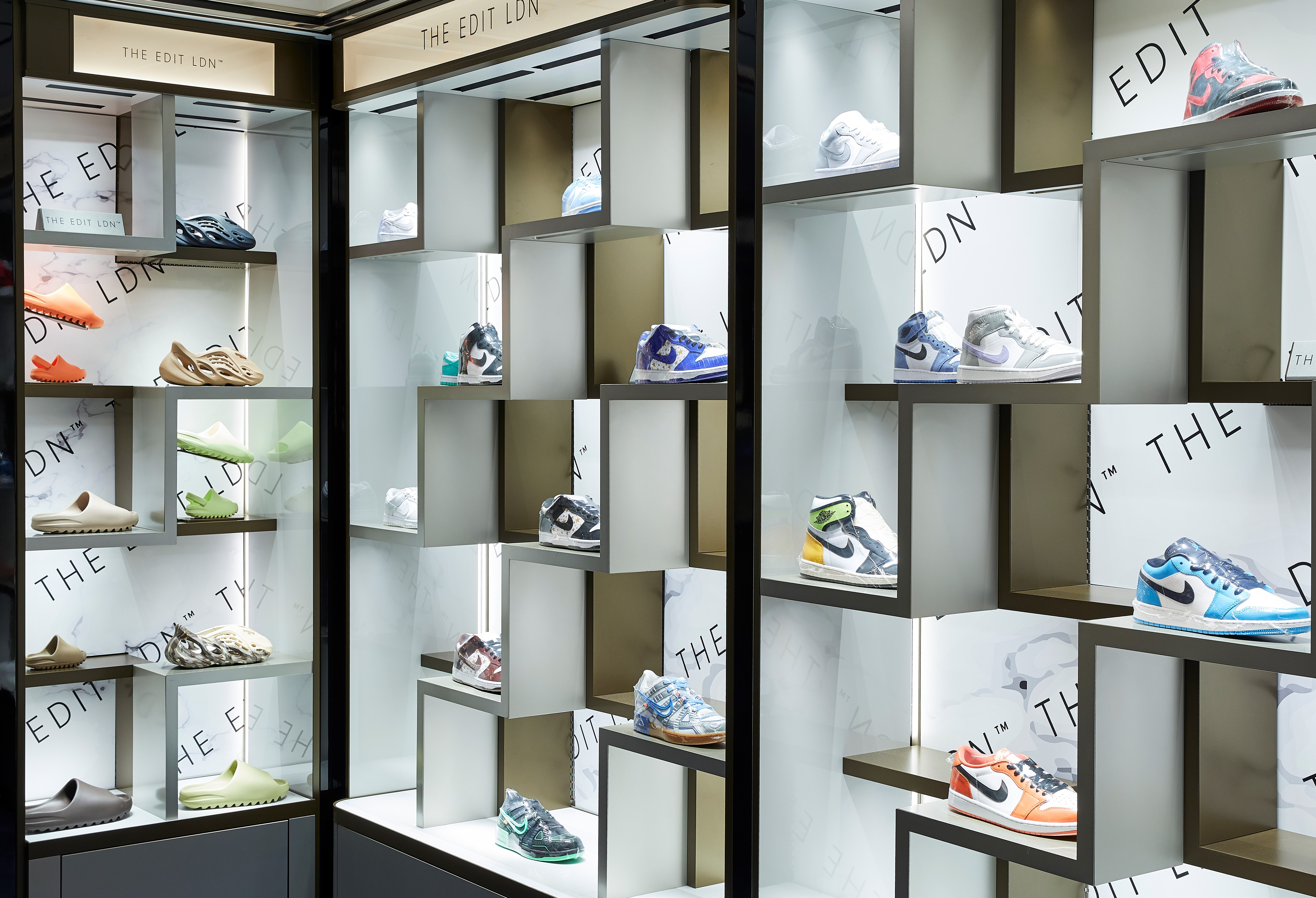 On display: a wide variety of limited edition sneakers