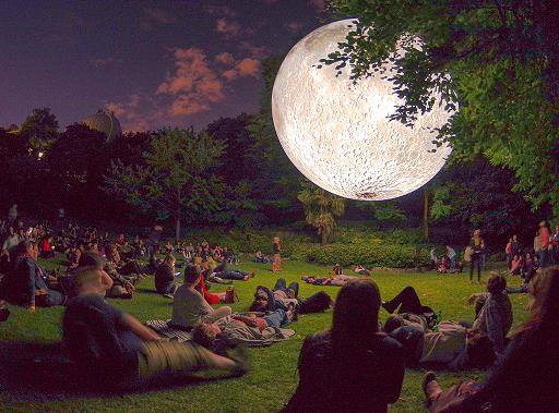 Museum of the Moon by Luke Jerram. Greenwich & Docklands Festival, UK