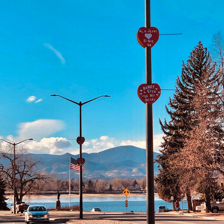 Loveland, Colorado is the nation's Sweetheart City. Throughout the month of February visitors experience valentine decorations, art installations, and light displays.