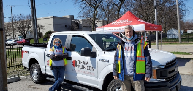 CNH Industrial employees supporting Team Rubicon during a recent vaccination event