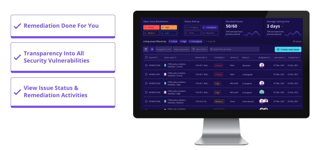 Cyvatar Platform Issue Management Dashboard