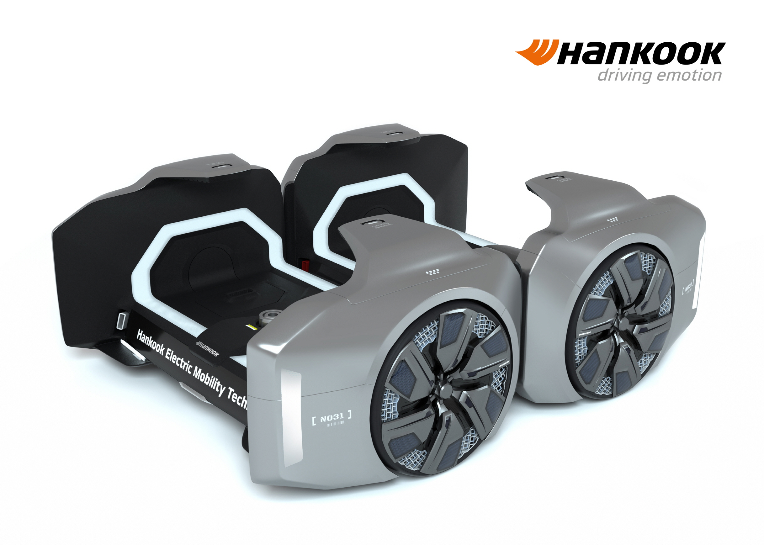 Hankook Tire unveils its 'Design Innovation 2020' project including its innovative modular platform-based tire concept, the 'Hankook Platform System (HPS)-Cell,' which supports the project's 'Urban Reshaping' theme and vision for the future mobility.