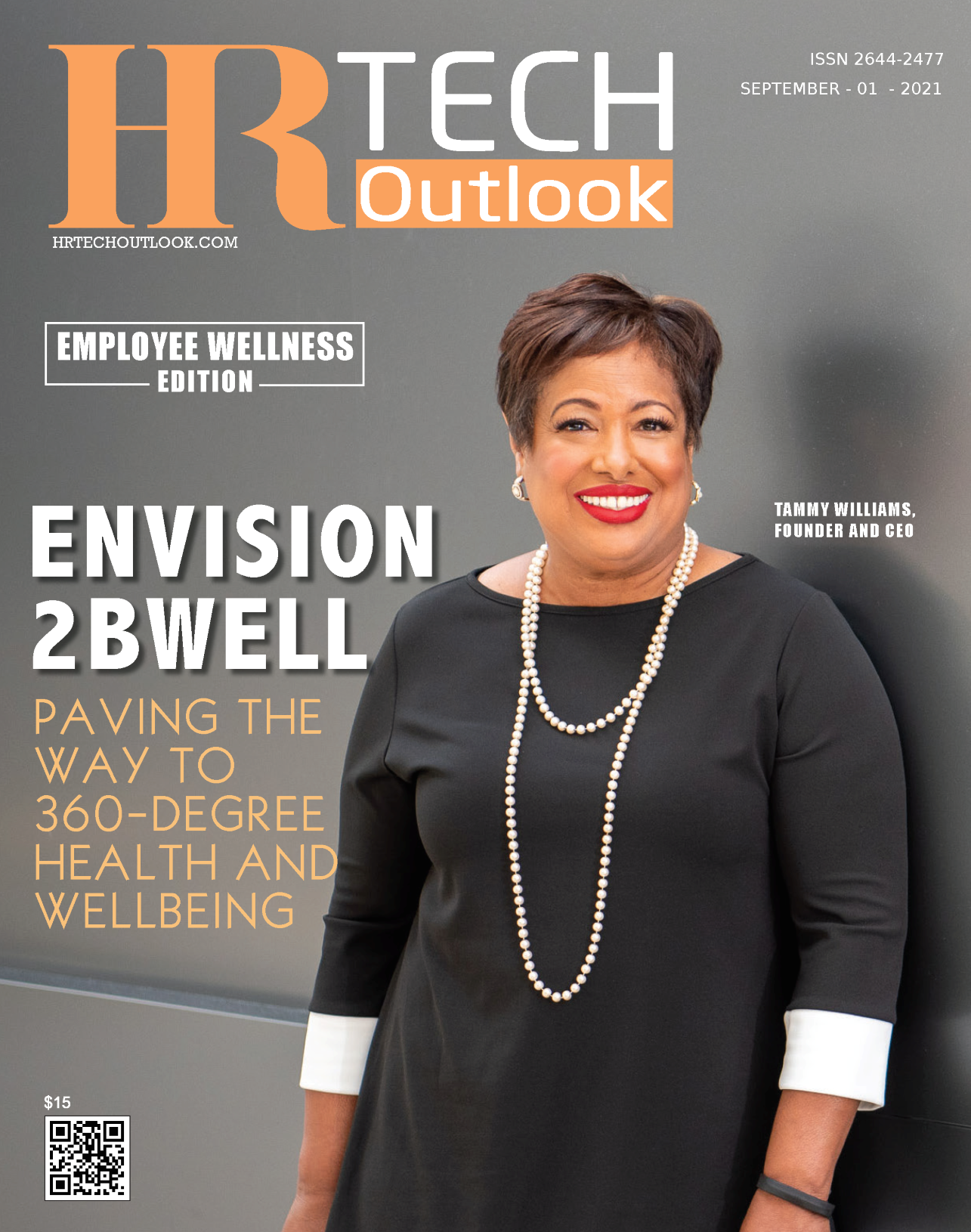 Tammy Williams, CEO/Founder of Envision2bWell, on the cover of HR Tech Outlook