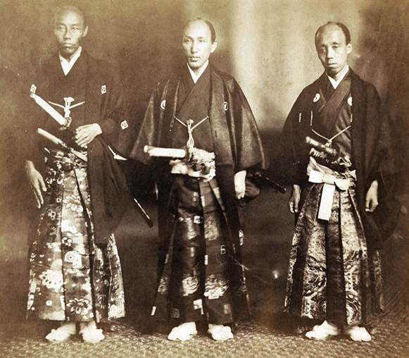 Members of the first Japanese delegation to the U.S.