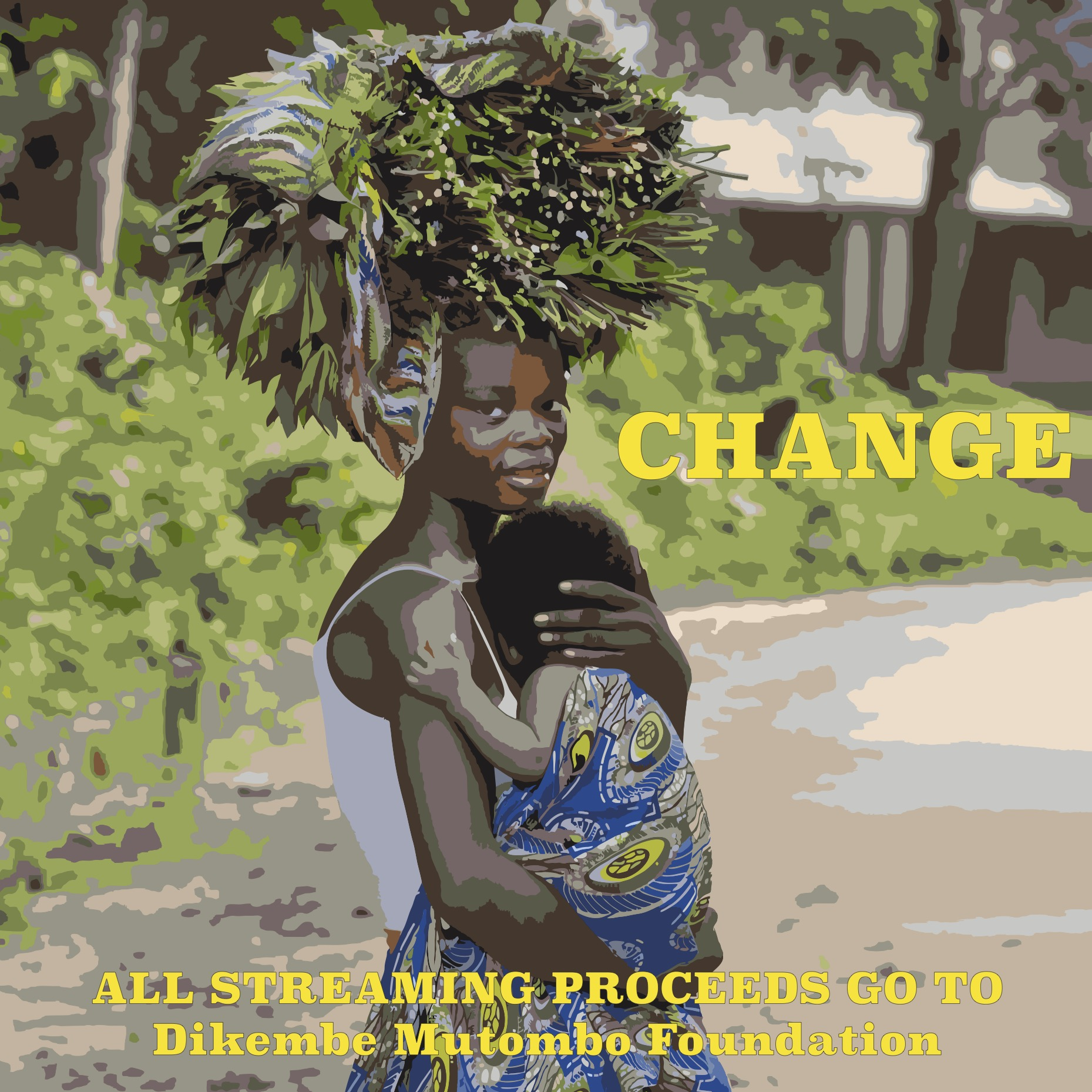 """Cover art from the new single """"Change"""" by Charlie Marie Lyons to benefit the Dikembe Mutombo Foundation"""