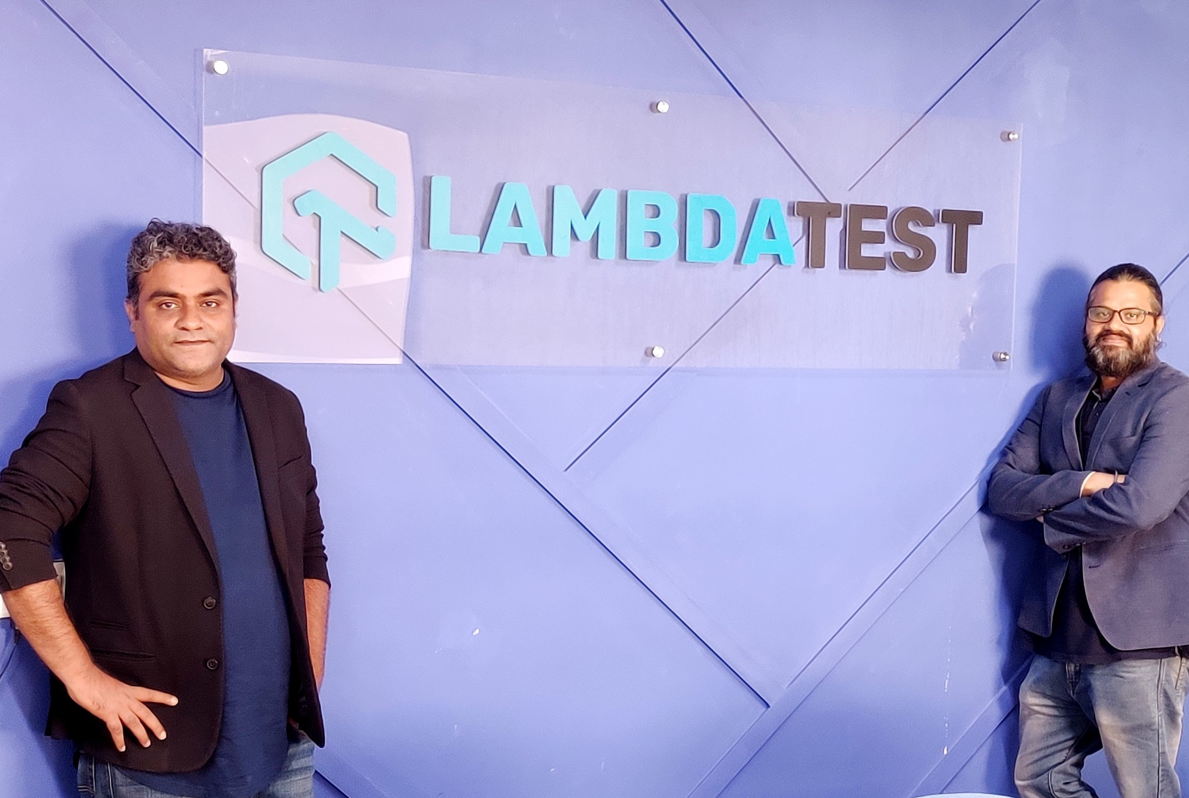 Test masters: Co-founders Asad Khan and Jay Singh at LambdaTest