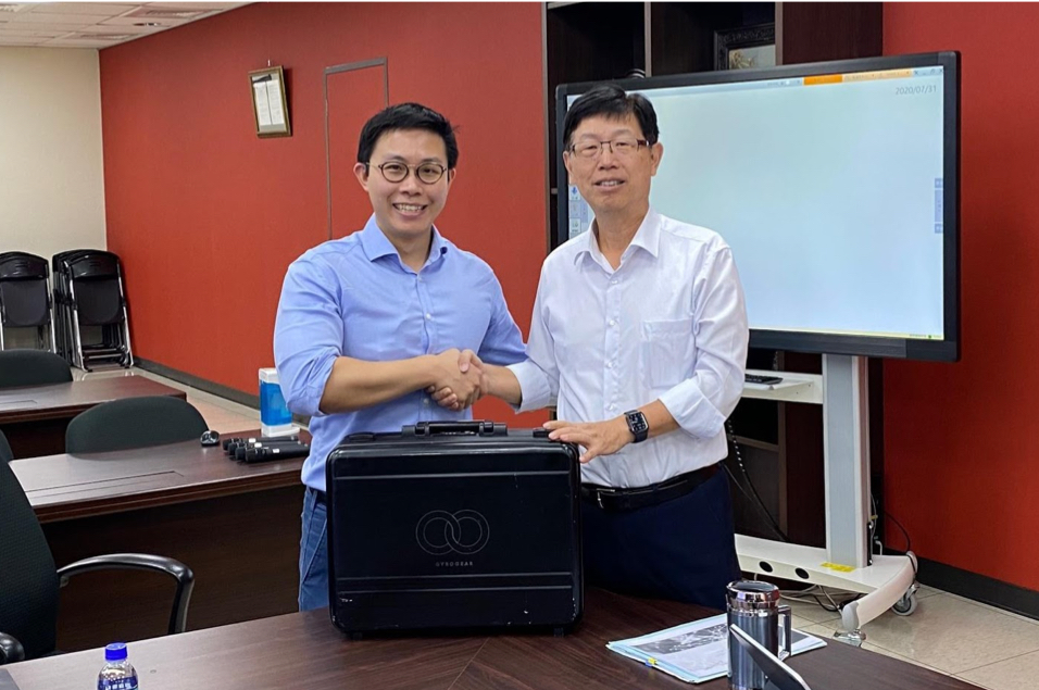 Chairman Young-way Liu (right) and Dr Faii Ong (left) at Foxconn Technology Group, Taipei.
