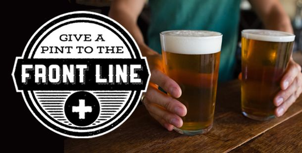 Minuteman Press Buffalo's website hosts the Give a Pint to the Front Line charity with options that include custom hoodies, t-shirts and $6 and up virtual pint donations.